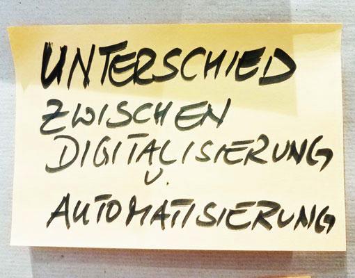 Unterschied Digitalisierung Automatisierung